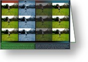 Backswing Greeting Cards - Ball Turf Swing p30 Greeting Card by Glenn Bautista