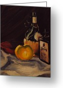 Teapot Greeting Cards - Ballantines Greeting Card by Chris Riley