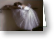 Rehearsal Greeting Cards - Ballerina 1. Ballet Greeting Card by Juan Carlos Ferro Duque