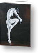 Lovers Art On Print Greeting Cards - Ballerina 2 Greeting Card by Mario Pelser