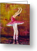 Arts Greeting Cards - Ballerina Greeting Card by David G Paul
