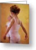 Little Girls Greeting Cards - Ballerina in Pink Greeting Card by Colleen Taylor
