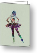 Dangerous Greeting Cards - Ballerina watercolor Greeting Card by Irina  March