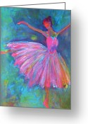 Dancers Greeting Cards - Ballet Bliss Greeting Card by Deb Magelssen