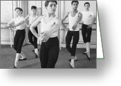 Five People Greeting Cards - Ballet For Boys Greeting Card by John Drysdale