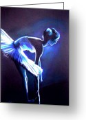 Ballet Dancer Greeting Cards - Ballet in Blue Greeting Card by L Lauter
