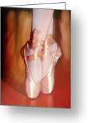 Ballet Art Greeting Cards - Ballet Greeting Card by Juan Jose Espinoza