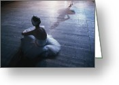 Ballet Dancer Greeting Cards - Ballet Rehearsal, St. Petersburg Greeting Card by Sisse Brimberg