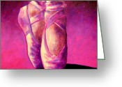Ballet Greeting Cards - Ballet Shoes  II Greeting Card by John  Nolan