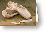 Silk Greeting Cards - Ballet shoes Greeting Card by Jane Rix