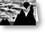 Mistic Greeting Cards - Ballons - 2 Greeting Card by Okan YILMAZ