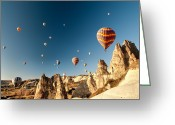 Mistic Greeting Cards - Ballons - 4 Greeting Card by Okan YILMAZ