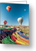 Mistic Greeting Cards - Ballons - 5 Greeting Card by Okan YILMAZ