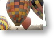 Foggy Morning Greeting Cards - Balloon Day is a Happy Day Greeting Card by Rob Travis