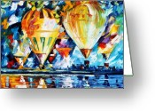 Afremov Greeting Cards - BALLOON FESTIVAL new Greeting Card by Leonid Afremov