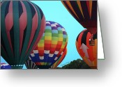 Gondola Digital Art Greeting Cards - Balloon Glow I Greeting Card by DigiArt Diaries by Vicky Browning