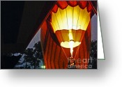 Balloon Fest Greeting Cards - Balloon Glow Greeting Card by Lizi Beard-Ward