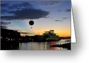 Downtown Disney Greeting Cards - Balloon over Disney Greeting Card by David Lee Thompson