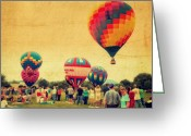 4th Of July Photo Greeting Cards - Balloon Rally Greeting Card by Kathy Jennings