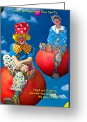 Grand Memories Greeting Cards - Balloon Ride Greeting Card by John Haldane