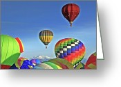 Babys Greeting Cards - Ballooning Above Longs Peak Greeting Card by Scott Mahon