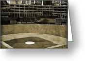 2011 World Series Greeting Cards - Ballpark Grunge Greeting Card by Malania Hammer