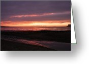 Northern Irish Art Greeting Cards - Ballycastle sunrise Greeting Card by David McFarland
