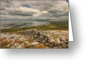 Kinvarra Greeting Cards - Ballyvaughan View 1 Greeting Card by John Quinn