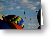 Glenn Mccurdy Greeting Cards - Baloon Sky Greeting Card by Glenn McCurdy