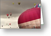 Balloon Fiesta Greeting Cards - Baloons Greeting Card by Angel  Tarantella