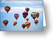 Balloon Fiesta Greeting Cards - Baloons Greeting Card by Ralf Kaiser
