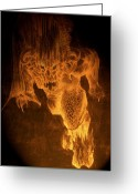 Second Age Greeting Cards - Balrog of Morgoth Greeting Card by Curtiss Shaffer