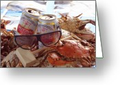 Blue Crab Greeting Cards - Baltimore Chic Greeting Card by Kevin Callahan
