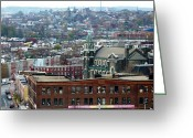 Spires Greeting Cards - Baltimore Rooftops Greeting Card by Carol Groenen
