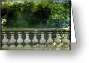 Bannister Tapestries Textiles Greeting Cards - Balustrade Greeting Card by Bernard Jaubert