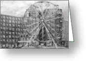 Landmarks Drawings Greeting Cards - Bamboozle Greeting Card by Kathy Etoll-Throckmorton