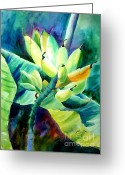 Banana Tree Greeting Cards - Bananas 6-12-06 julianne felton Greeting Card by Julianne Felton