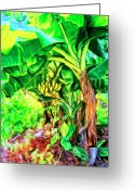 Mango Greeting Cards - Bananas in Lahaina Greeting Card by Dominic Piperata