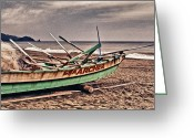 Philippines Art Greeting Cards - Banca Boat 2 Greeting Card by Skip Nall