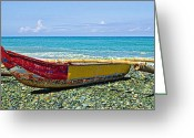 Philippines Art Greeting Cards - Banca Boat 3 Greeting Card by Skip Nall