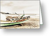 Philippines Art Greeting Cards - Banca Boat Greeting Card by Skip Nall
