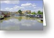 England Greeting Cards - Bancroft Basin at Stratford-upon-Avon Greeting Card by Rod Johnson