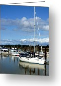 Boats Greeting Cards - Bandon By the Sea Greeting Card by Cindy Wright
