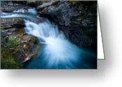 Johnston Greeting Cards - Banff - Johnston Canyon 1 Greeting Card by Terry Elniski