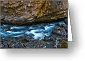Johnston Greeting Cards - Banff - Johnston Canyon 2 Greeting Card by Terry Elniski