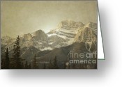 Winter Photos Greeting Cards - Banff Close Up Greeting Card by Andrea Hazel Ihlefeld
