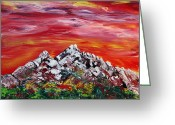 Snow Capped Painting Greeting Cards - Banff in Autumn Greeting Card by James Bryron Love