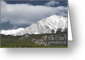 Rocky Mountain National Park Greeting Cards Greeting Cards - Banff Majesty Greeting Card by Andrea Hazel Ihlefeld