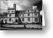 Town Hall Greeting Cards - Bangor Castle now the town hall home of north down borough council county down northern ireland Greeting Card by Joe Fox