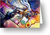 Cosmogony Greeting Cards - Bantu Cosmogony Greeting Card by Bob Money